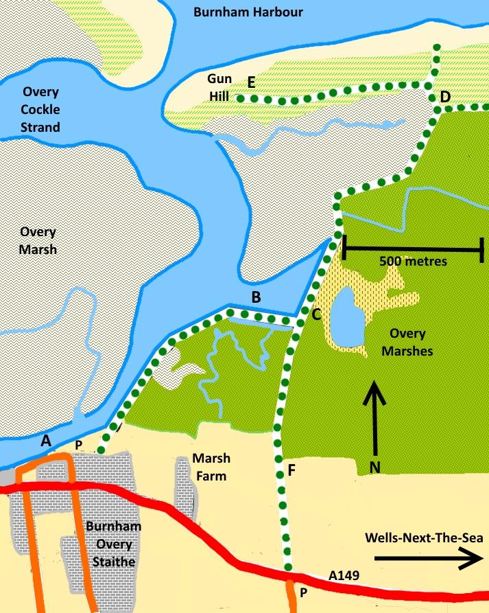 Burnham Overy Dunes, Gun Hill and the Staithe – The Burnhams – Norfolk's undiscovered walks